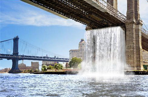 New York Public Waterfall