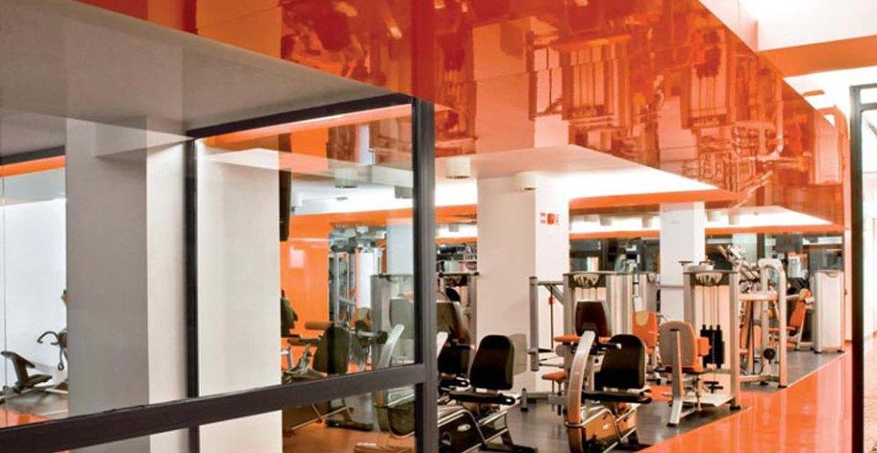 Gym with Orange Walls