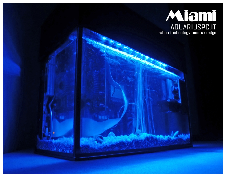 AquariusPC Aquariums with Built-In Electronics
