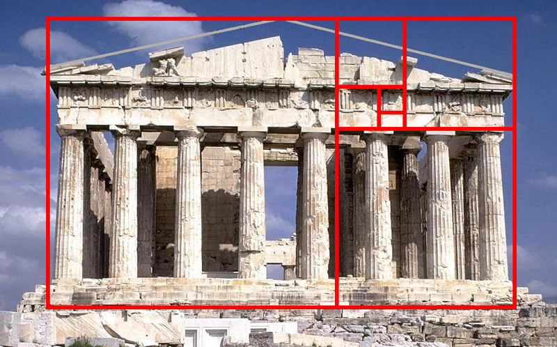 Golden Ratio on the Parthenon