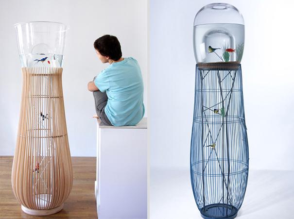 Duplex Bird Cage/Aquarium