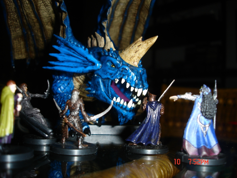 Fighting a Blue Dragon