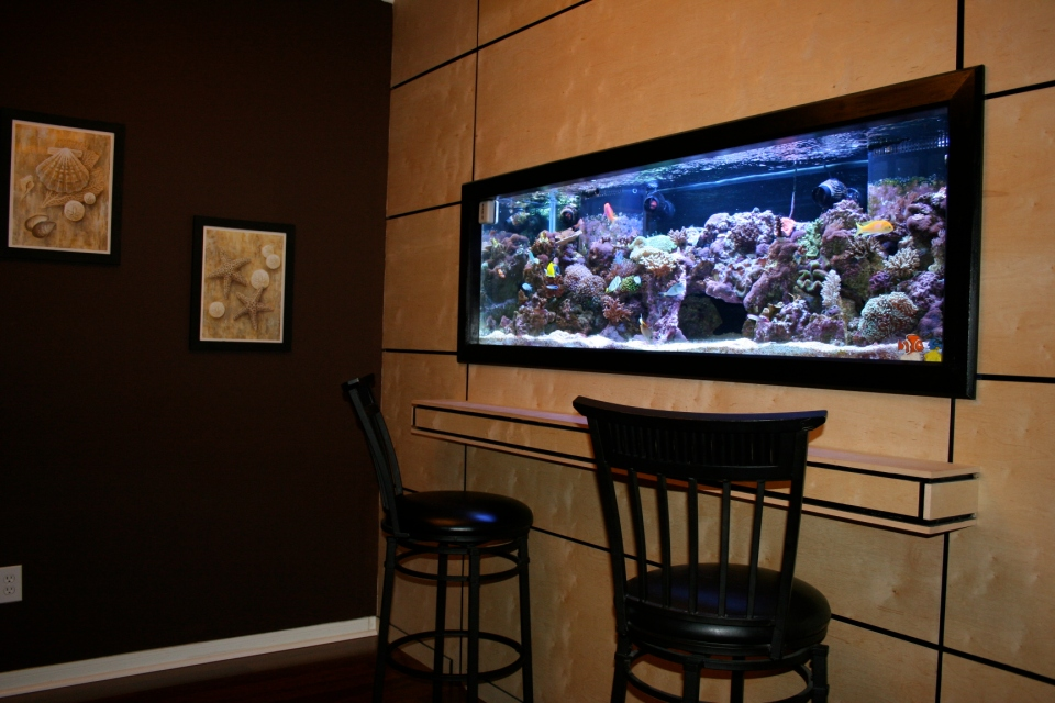 Mini Bar with Built-In Aquarium