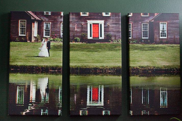 Split Canvas Wedding Photo