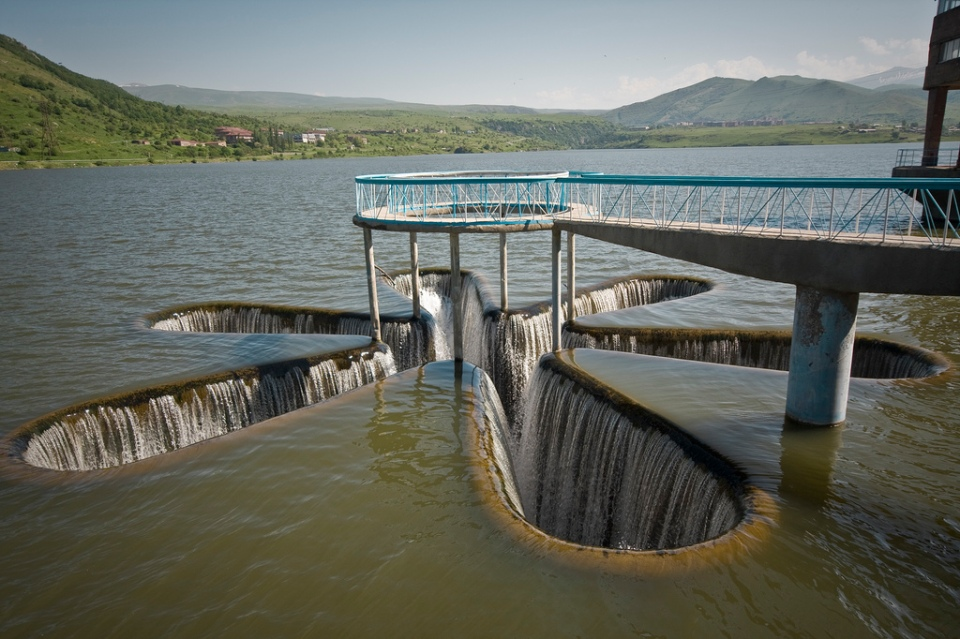 Spillway in Kechut Reservoir